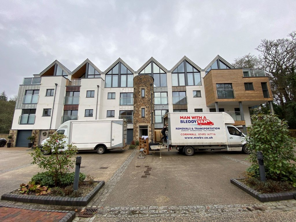 Our Cornwall Removals team on a big four bedroom three storey move near Falmouth, Cornwall
